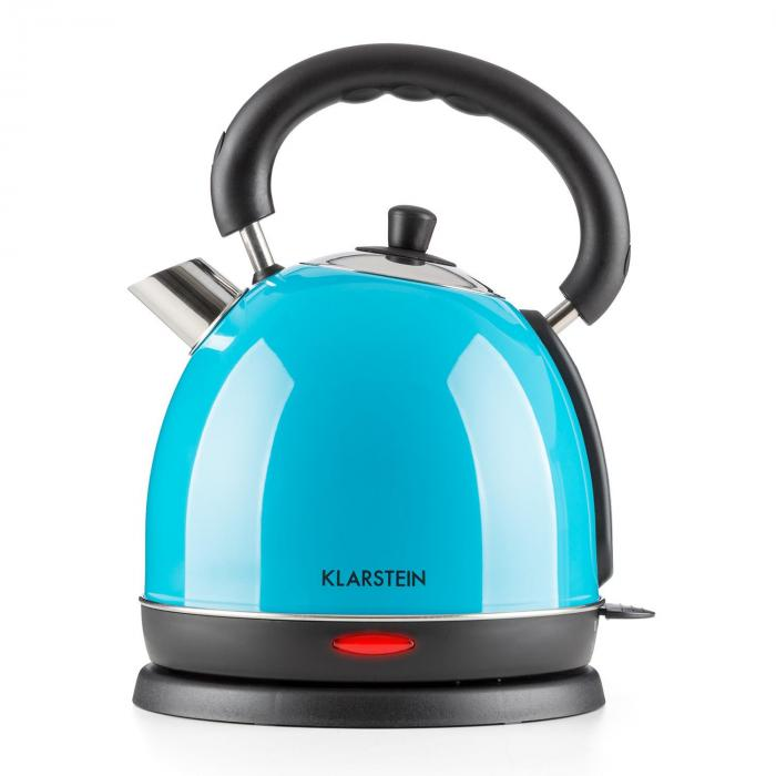 teatime electric kettle tea kettle 1850 w 1 8l stainless steel blue