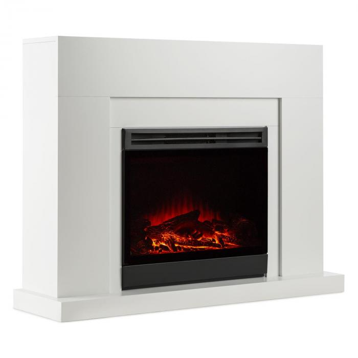 Blanca Electric Fireplace Led Flame Simulation 750 1500 W 40 M² White 5000 Btu