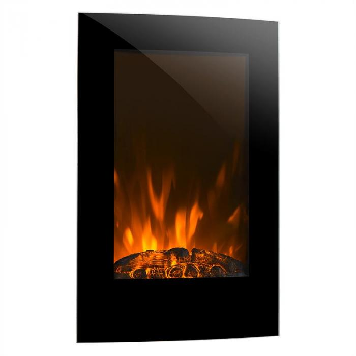 Lausanne Vertical Electric Fireplace 2000 Watts Remote Control - The Lausanne vertical electric fireplace from Klarstein conjures a romantic