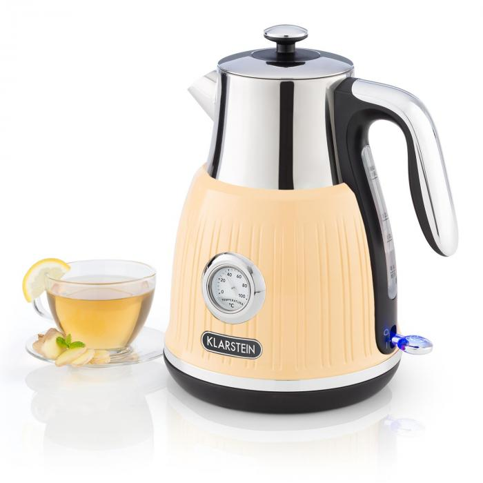 Cancan Kettle 1.6L 1800-2150W Retro Design 360° Device Base Cream
