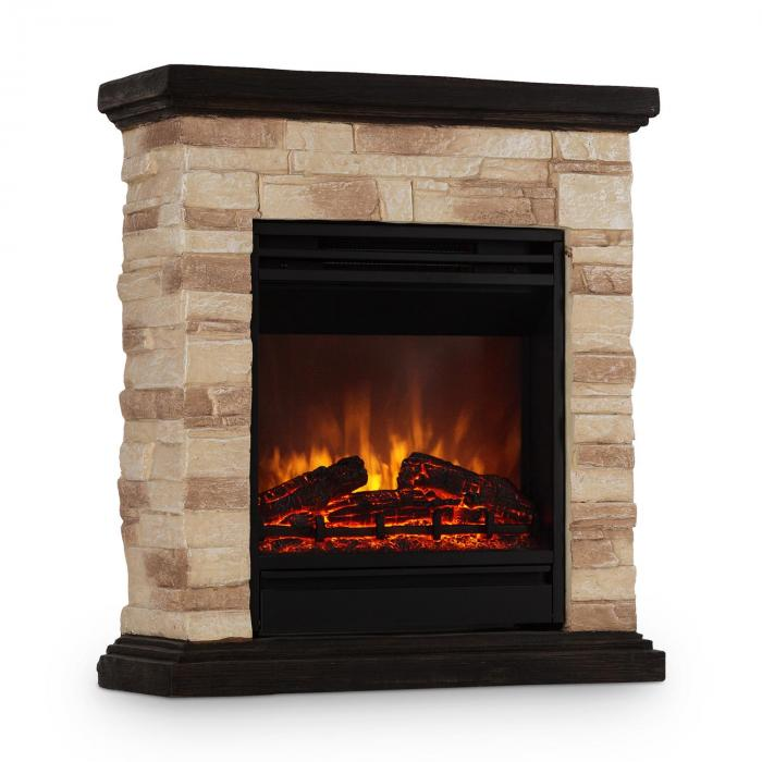 Kaprun Electric Fireplace 1800w Stone Decor Polystone Remote Control
