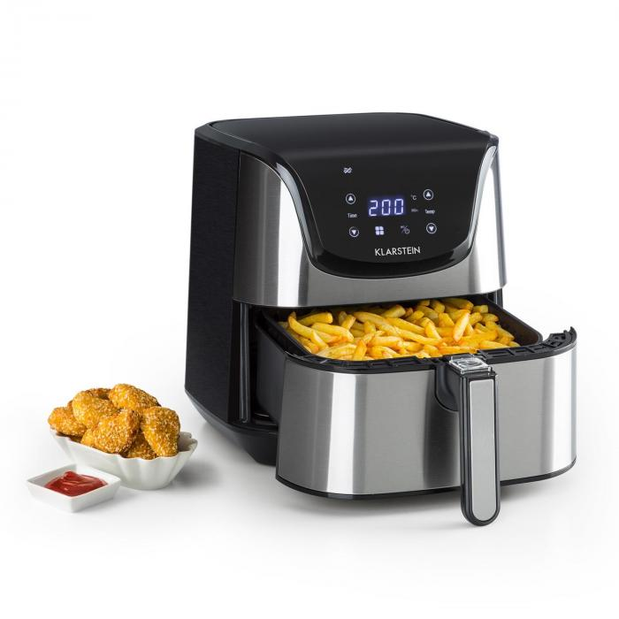 Aero Vital Deluxe Hot Air Fryer 1700W 5.4 Litre Stainless Steel Silver