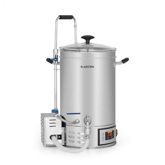 Brauheld Mash Kettle 30 Litres 30-140 ° C Circulating Pump Stainless Steel