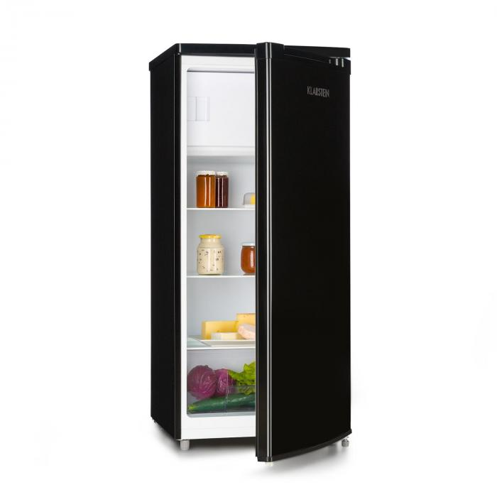 samara l k hlschrank 181l crisper fach a schwarz 181 ltr klarstein. Black Bedroom Furniture Sets. Home Design Ideas