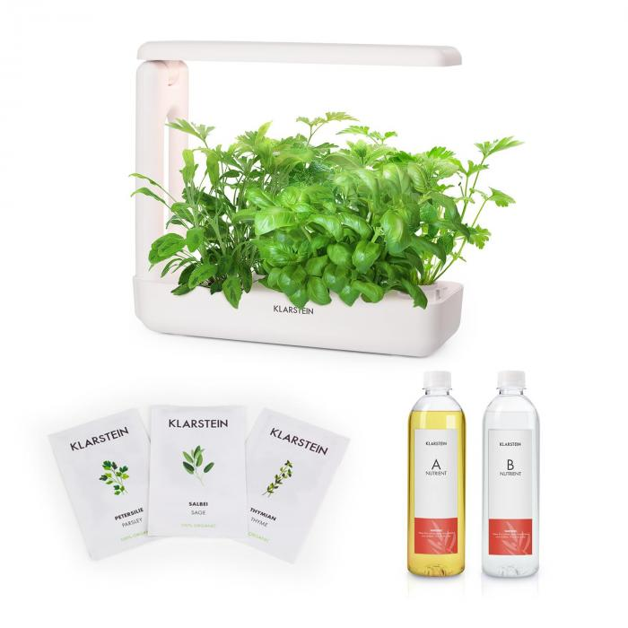 GrowIt Cuisine Starter Kit Europa 10 Plants LED Europe Seeds Nutrient Solution