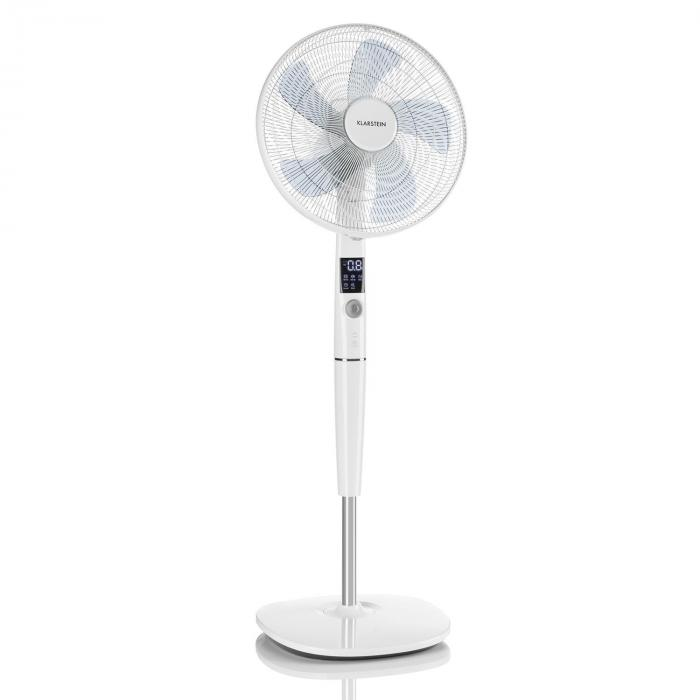 Silent Storm Pedestal Fan Adjustable Height Quiet Operation 12 Speed settings Remote Control 5 Operation Modes White