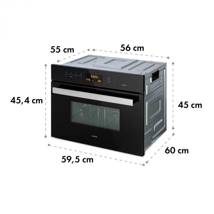 Luminance Steam Forno a Microonde ad Incasso, Microonde 34 L: 900 W ...