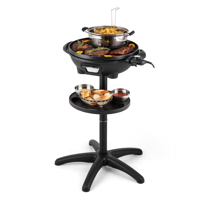 grillpot elektrogrill 1600w standgrill tischgrill 40cm grill gusseisen klarstein. Black Bedroom Furniture Sets. Home Design Ideas