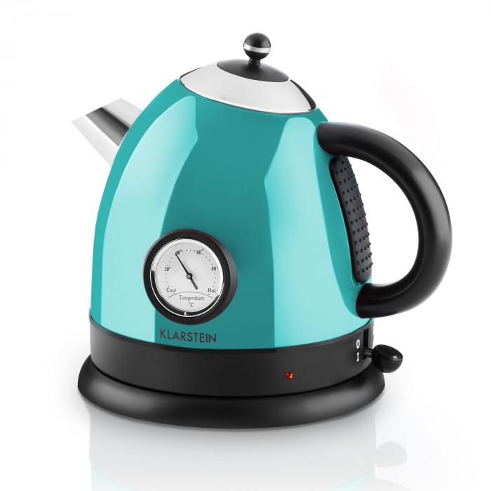 aquavita kettle 1 5l 2200w stainless steel blue blue. Black Bedroom Furniture Sets. Home Design Ideas