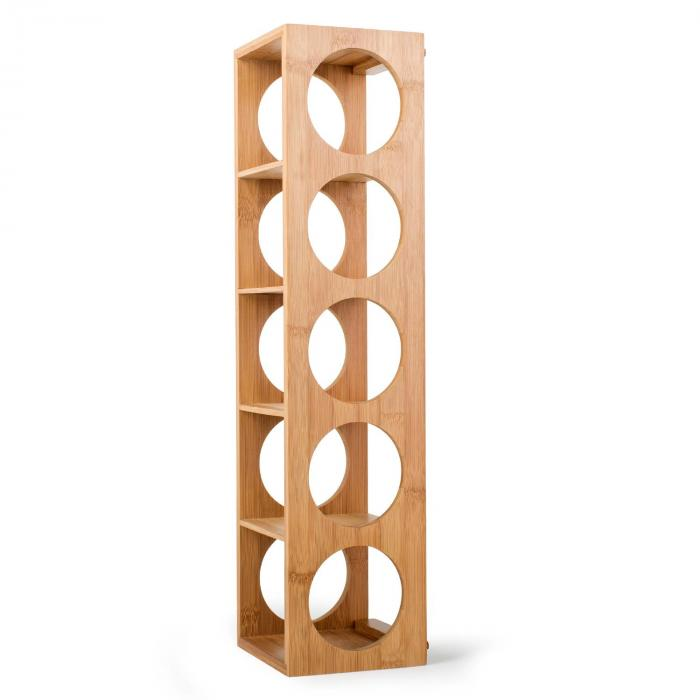 rack no 3 bamboo wine rack stackable klarstein. Black Bedroom Furniture Sets. Home Design Ideas