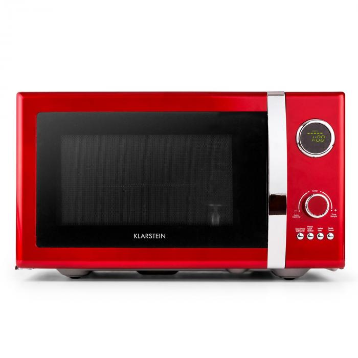 Fine dinesty four micro onde 23l 800w rouge rouge klarstein - Four micro onde rouge ...