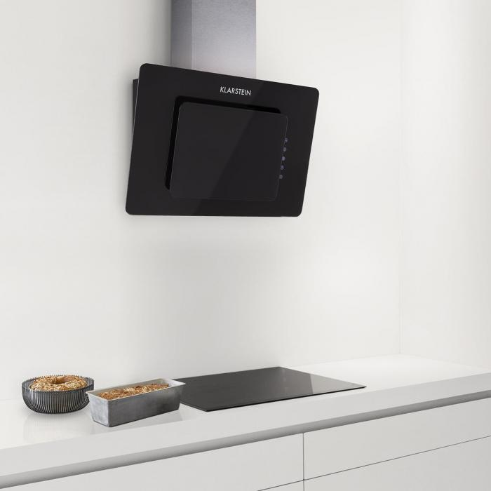 lorea extractor cooker hood 60cm touch panel black safety. Black Bedroom Furniture Sets. Home Design Ideas