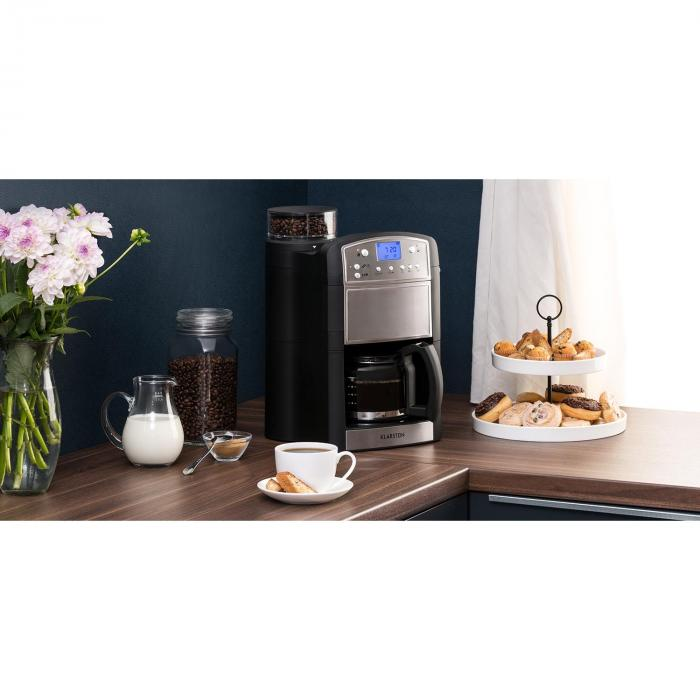 aromatica machine caf cafeti re moulin 10 tasses verseuse en verre aroma inox inox bross. Black Bedroom Furniture Sets. Home Design Ideas