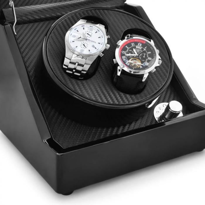 Ca1pm Watch Winder Display Case For 2 Watches 2 Watches