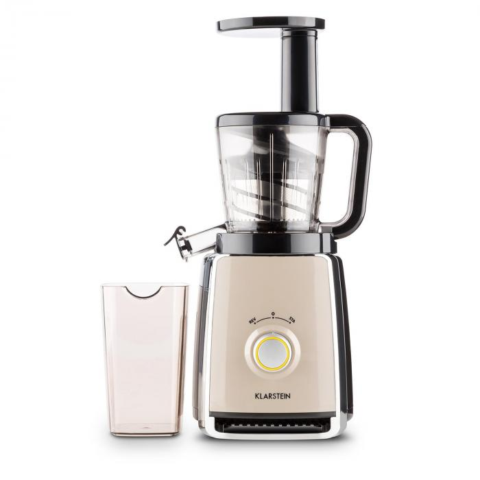 Klarstein Sweetheart Slow Juicer Review : Sweetheart Juicer Slow Juicer 150W 32 RPM Black Creme Klarstein