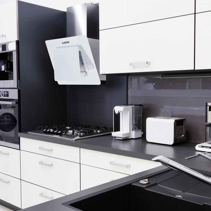 lorea extractor hood60cm 280 m h touch panel glass white. Black Bedroom Furniture Sets. Home Design Ideas