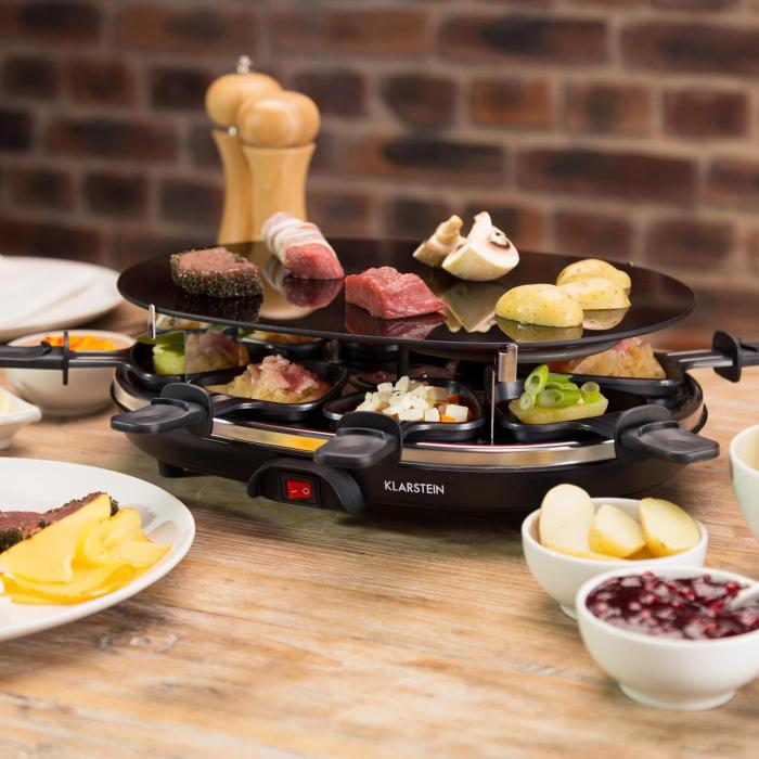 blackjack appareil raclette grill 8 personnes verre. Black Bedroom Furniture Sets. Home Design Ideas