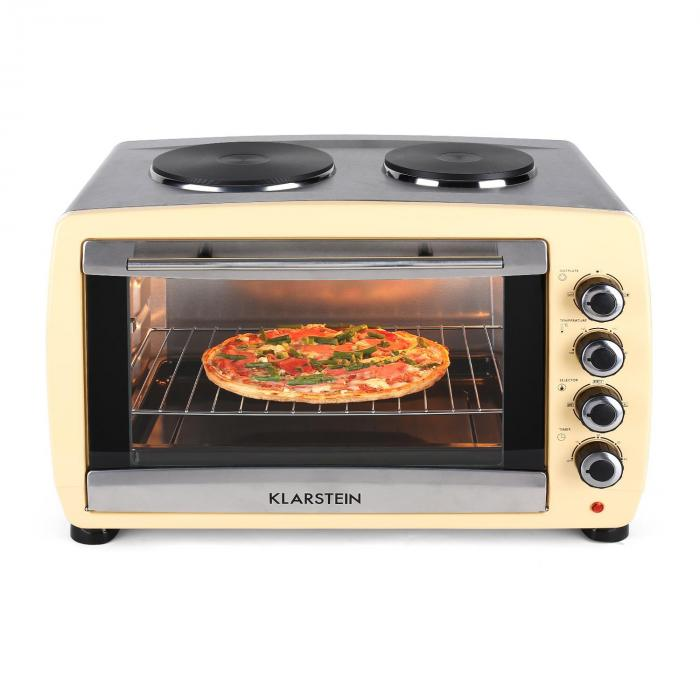 omnichef 45hc oven 2 hot plates 2000w 45l cream creme. Black Bedroom Furniture Sets. Home Design Ideas