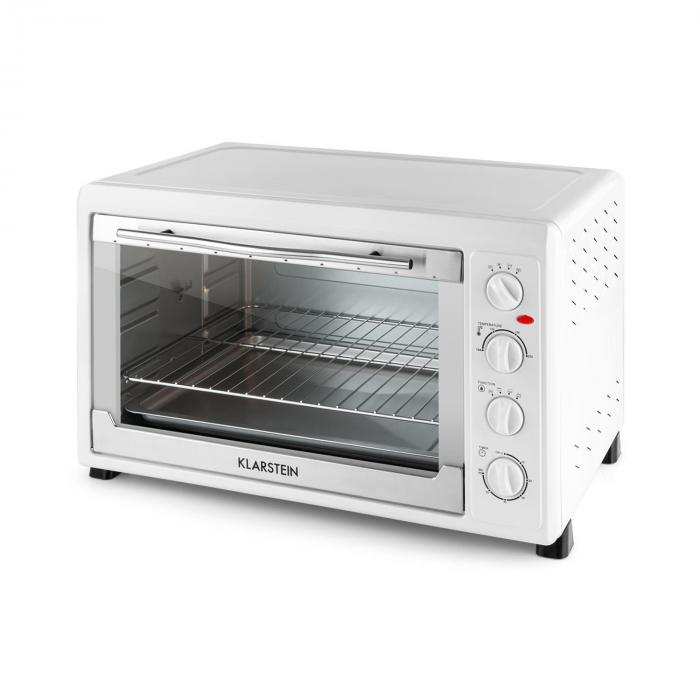 masterchef 60 mini oven 2500w 60 litre stainless steel white white klarstein. Black Bedroom Furniture Sets. Home Design Ideas