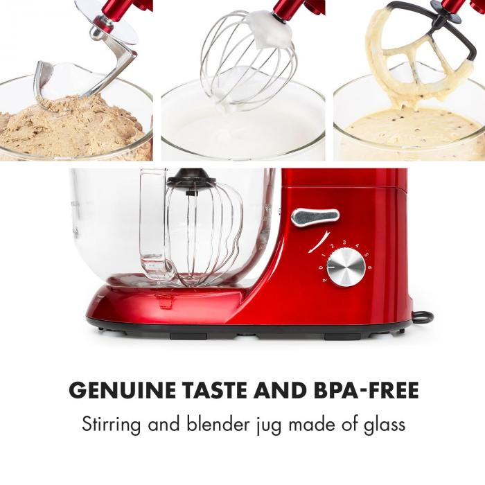Lucia Rossa 2g Stand Mixer Blender Meat Grinder 1200w Bpa Free Red