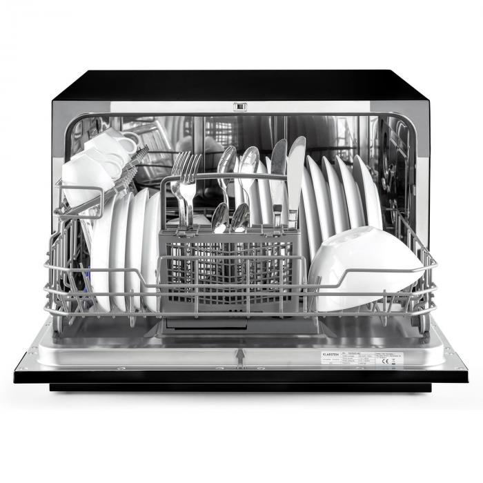 amazonia 6 table dishwasher a 1380w 6 place settings 49 db black black klarstein. Black Bedroom Furniture Sets. Home Design Ideas