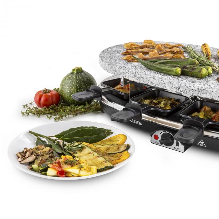 how to clean granite raclette grill