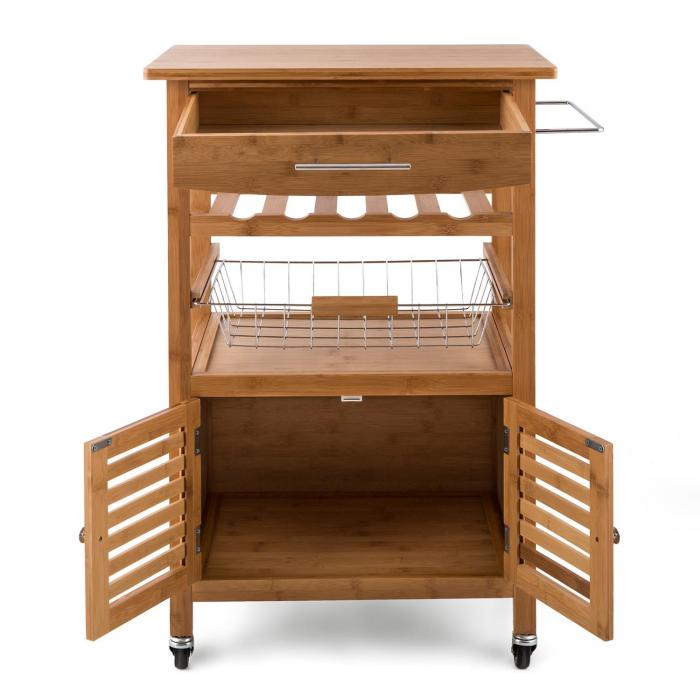Kitchen Trolley Accessories: Louisiana Kitchen Trolley Serving Wagon 4 Floors Bamboo