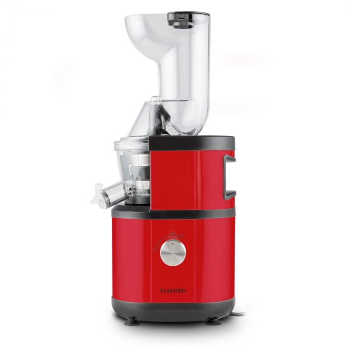 Fruitberry Slow Juicer 400W 60 RPM Stainless Steel Red Red Klarstein