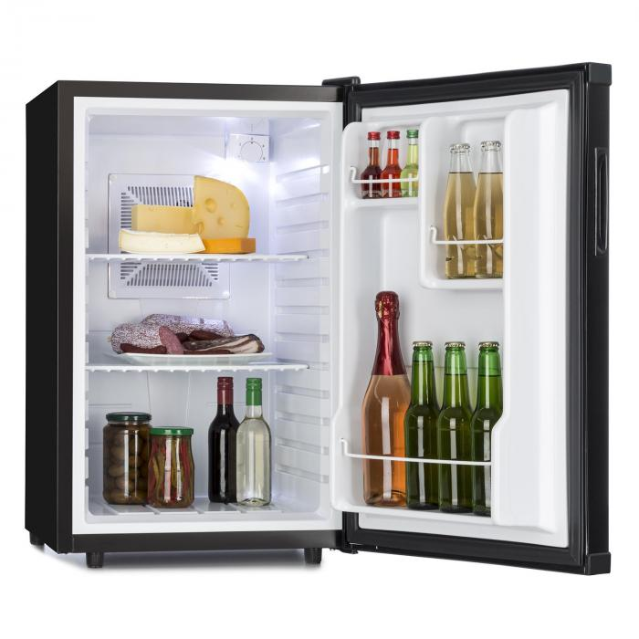 beverage refrigerator minibar room refrigerator 65 l class a black black klarstein. Black Bedroom Furniture Sets. Home Design Ideas