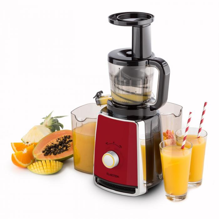 Klarstein Sweetheart Slow Juicer Test : Sweetheart Extracteur de jus Slow Juicer 150 W 32T/mn - rouge Rouge Klarstein