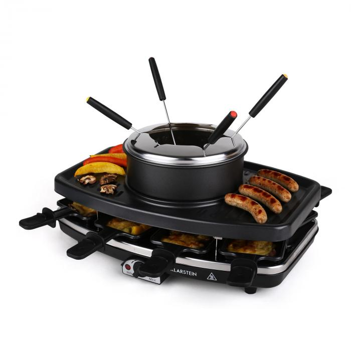 entrecote fondle raclette grill stone fondue 1100w 8 ppl klarstein. Black Bedroom Furniture Sets. Home Design Ideas