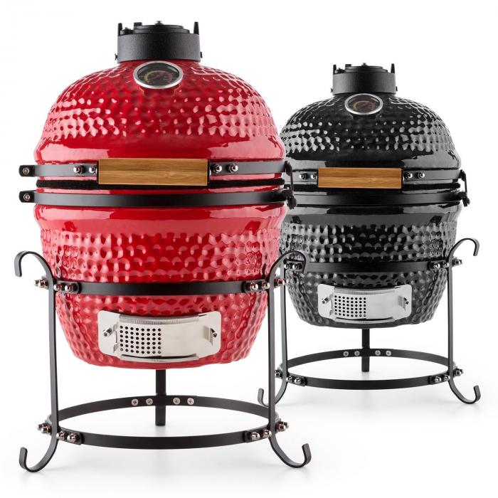 princesize kamado grill keramikgrill 11 smoker bbq slowcooking rot rot klarstein. Black Bedroom Furniture Sets. Home Design Ideas