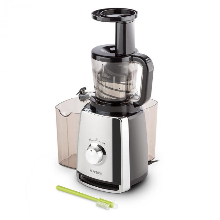 Slow Juicer Recipes Kiwi : Sweetheart Juicer Slow Juicer 150W 32 RPM Chrome Silver Klarstein