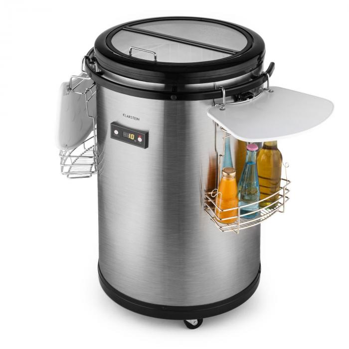 Mr Barbot Portable Bar Fridge Party Cooler 50l Stainless