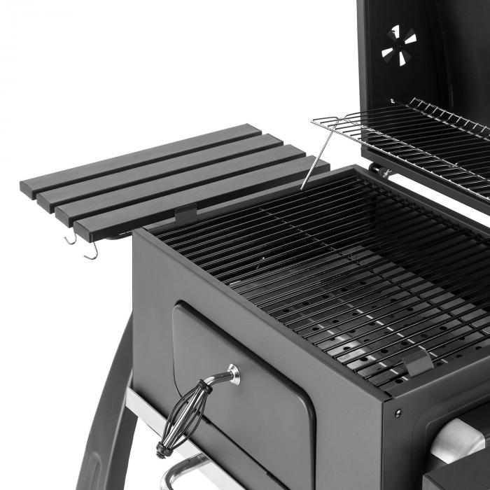 bigfoot barbecue charbon de bois fumoir bbq 55 x 40 cm acier noir klarstein. Black Bedroom Furniture Sets. Home Design Ideas