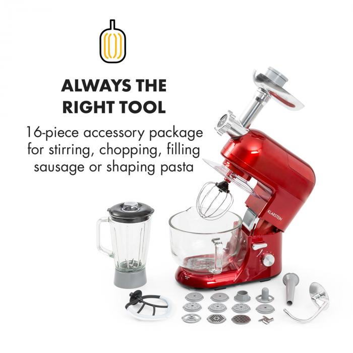Lucia Rossa 2g Stand Mixer Blender Meat Grinder 1200w Bpa Free