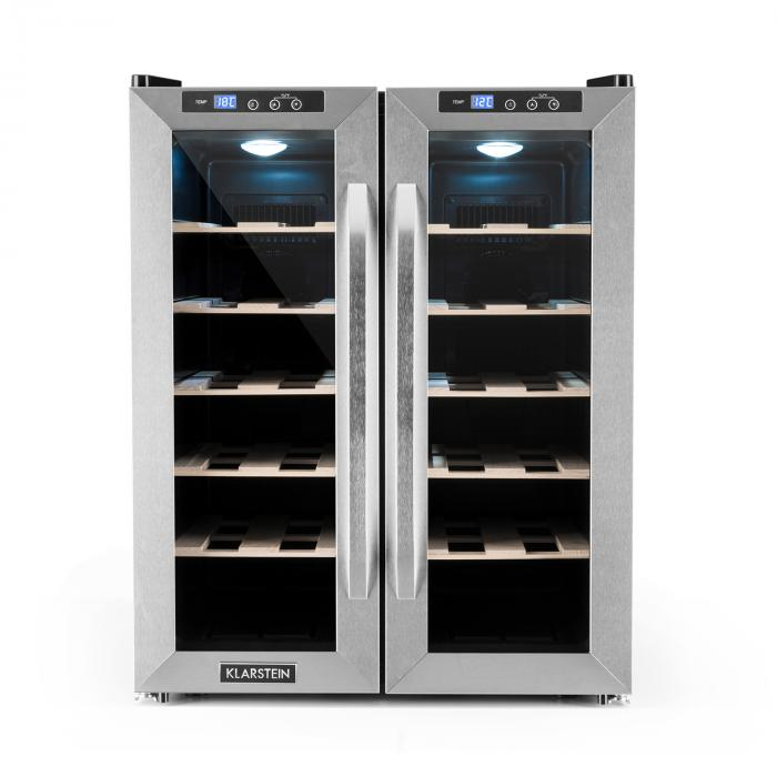 Saloonnapa Wine Cooler 67l 2 Glass Doors 11 18 176 C Stainless