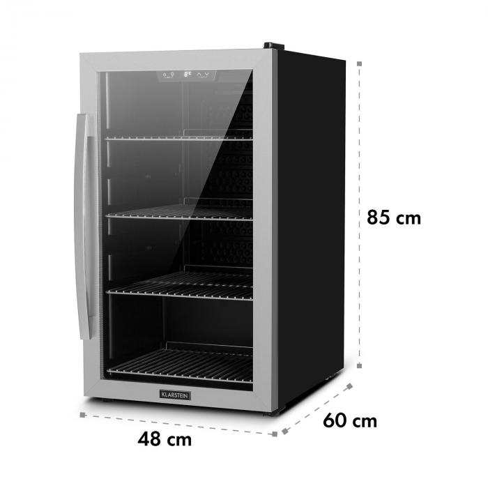 beersafe 4xl getr nkek hlschrank 124l 0 10 c glas eek a edelstahl silber 124 ltr klarstein. Black Bedroom Furniture Sets. Home Design Ideas