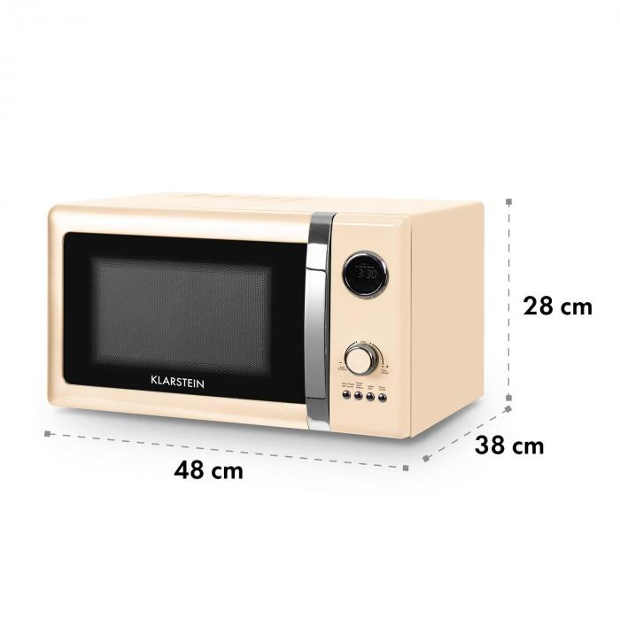 Fine Dinesty 2in1 Microwave Oven Retro 23l 800w 12