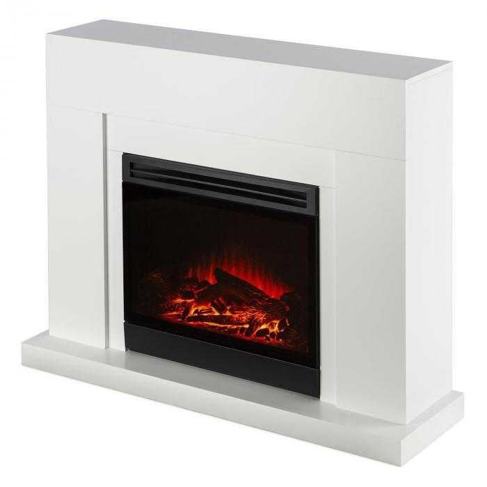 blanca electric fireplace led flame simulation 750 1500 w. Black Bedroom Furniture Sets. Home Design Ideas