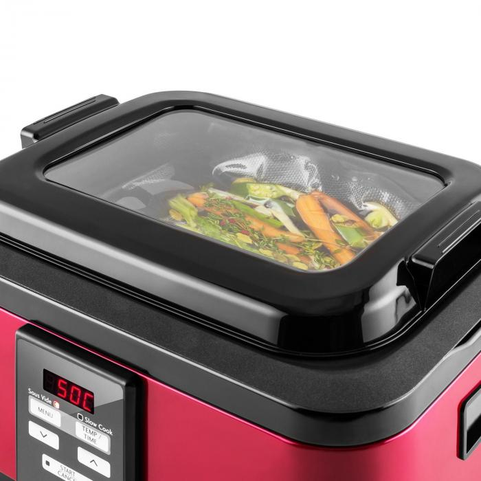 tastemaker cuiseur sous vide slow cooker 6l 550 w rouge rouge klarstein. Black Bedroom Furniture Sets. Home Design Ideas